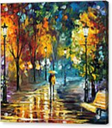 Soul Of The Rain - Palette Knife Oil Painting On Canvas By Leonid Afremov Acrylic Print