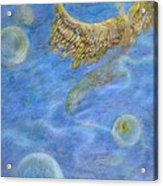 Soul's Flight In The Ocean Of Time And Space Acrylic Print by Jacquelyn Roberts