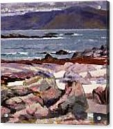 Sound Of Iona  The Burg From The North Shore Acrylic Print