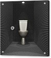Soundproof Toilet Cubicle Acrylic Print