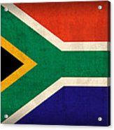 South Africa Flag Vintage Distressed Finish Acrylic Print