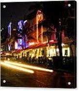 South Beach After Dark Acrylic Print