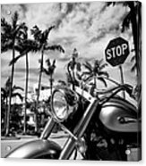 South Beach Cruiser Acrylic Print