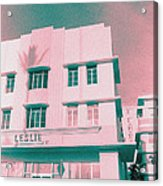 South Beach Miami Leslie Tropical Art Deco Hotel Acrylic Print