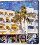 South Beach Miami Art Deco Buildings Acrylic Print