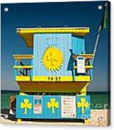 South Beach Miami Acrylic Print