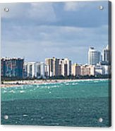 South Beach On A Summer Day Acrylic Print