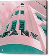South Beach Miami Tiffany Hotel Tropical Art Deco Acrylic Print