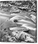 South Boulder Creek Little Waterfalls Rollinsville Bw Acrylic Print