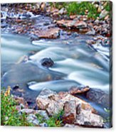 South Boulder Creek Little Waterfalls Rollinsville Acrylic Print