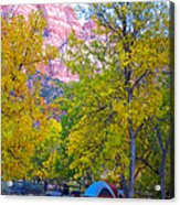South Campground In Zion Np-ut Acrylic Print