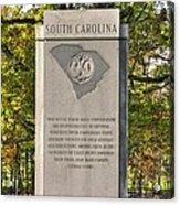 South Carolina At Gettysburg - Close 1 Acrylic Print
