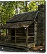 South Carolina Log Cabin Acrylic Print