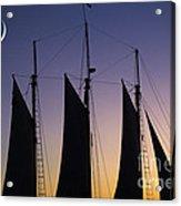 South Carolina Schooner Sunset Acrylic Print