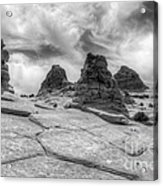 South Coyote Buttes Monochrome 1 Acrylic Print