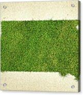 South Dakota Grass Map Acrylic Print by Aged Pixel