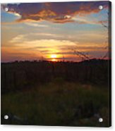 South Dakota Sunset 2 Acrylic Print