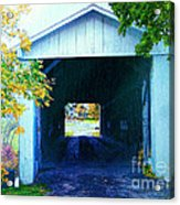 South Denmark Rd. Covered Bridge Acrylic Print
