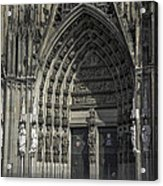South Entrance Cologne Cathedral Acrylic Print