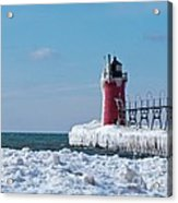 South Haven Ice Acrylic Print