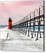 South Haven Light And Pier Acrylic Print