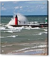 South Haven Splash Acrylic Print