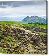 South Iceland Landscape Pingvellir Acrylic Print