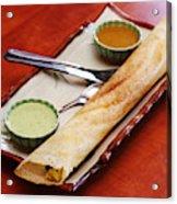 South Indian Snacks Masala Dosa Acrylic Print