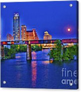 South Lamar Bridge Acrylic Print