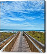 South Padre Island Walkway Acrylic Print