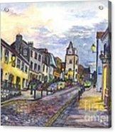 Nightfall At South Queensferry Edinburgh Scotland At Dusk Acrylic Print