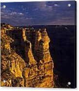 South Rim Grand Canyon Taken Near Mather Point Sunrise Light On  Acrylic Print