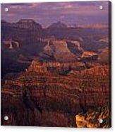 South Rim Grand Canyon Taken Near Yavapai Point Sunset Light On  Acrylic Print