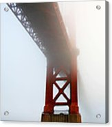South Tower Fog Acrylic Print