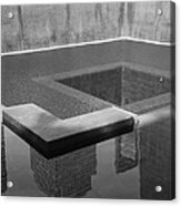 South Tower Pool In Black And White Acrylic Print
