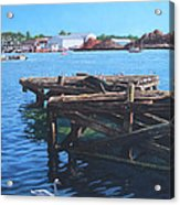 Southampton Northam River Itchen Old Jetty With Sea Birds Acrylic Print
