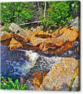 Southeast Brook Above Falls In Gros Morne Np-nl Acrylic Print