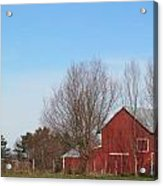 Southeast Red Barn Acrylic Print
