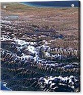 Southern Alps, New Zealand, 3d Artwork Acrylic Print