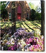 Southern Church In Bloom Acrylic Print