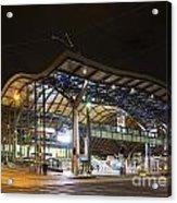 Southern Cross Rail Station In Melbourne Australia Acrylic Print