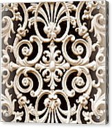 Southern Ironwork In Sepia Acrylic Print