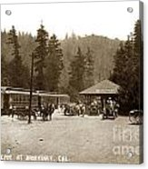 Southern Pacific Depot At Brookdale Santa Cruz Co. Cal. Circa 1910 Acrylic Print