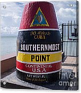 Southernmost Point Marker Acrylic Print