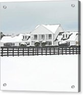 Snow Covered Southfork Ranch   Acrylic Print
