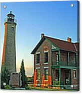 Southport Lighthouse On Simmons Island Acrylic Print