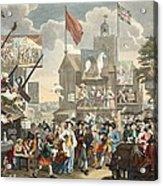 Southwark Fair, 1733, Illustration Acrylic Print