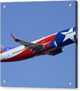 Southwest Boeing 737-3h4 N352sw Lone Star One Taking Off Phoenix Sky Harbor March 6 2015  Acrylic Print