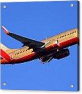 Southwest Boeing 737-7h4 N792sw Phoenix Sky Harbor December 22 2014  Acrylic Print