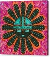 Southwest Sunburst Sunface Acrylic Print